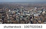 aerial view of Birmingham city centre skyline, UK