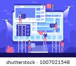 people character decorated web... | Shutterstock .eps vector #1007021548