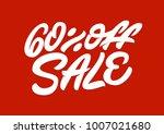 60   off sale. premium handmade ... | Shutterstock .eps vector #1007021680