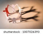closed joining of six paper... | Shutterstock . vector #1007026393