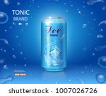 ice drink metallic can. tonic... | Shutterstock .eps vector #1007026726
