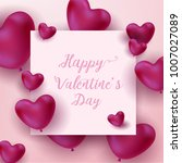 happy valentine's day vector... | Shutterstock .eps vector #1007027089
