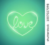 love green neon sign makes it... | Shutterstock .eps vector #1007027098
