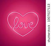 love pink neon sign makes it...   Shutterstock .eps vector #1007027113