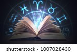 open shining astrology book... | Shutterstock . vector #1007028430