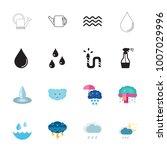 water icon set | Shutterstock .eps vector #1007029996