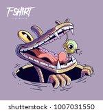 poster  card or t shirt print... | Shutterstock .eps vector #1007031550