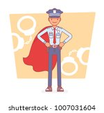 super policeman at duty. best... | Shutterstock .eps vector #1007031604