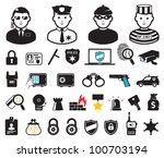 crime world symbols  set | Shutterstock .eps vector #100703194