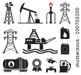 oil  gas  electricity symbols | Shutterstock .eps vector #100703200