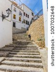 Steep Steps In The Old Town Of...