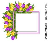 8 march greeting card for... | Shutterstock .eps vector #1007034448