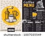 coffee drink menu for... | Shutterstock .eps vector #1007035549