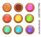 cartoon wooden buttons set....