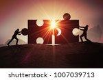 teamwork  partnership and... | Shutterstock . vector #1007039713