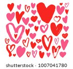 collection hearts illustration. ... | Shutterstock .eps vector #1007041780