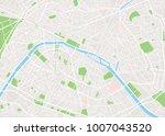 paris city map | Shutterstock .eps vector #1007043520