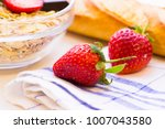 healthy delicious breakfast... | Shutterstock . vector #1007043580