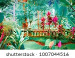 surreal colors of fantasy... | Shutterstock . vector #1007044516