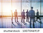 businesspeople in modern... | Shutterstock . vector #1007046919