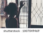 hands catching rail. feeling no ... | Shutterstock . vector #1007049469