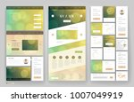 website template design with... | Shutterstock .eps vector #1007049919