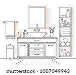 vector interior in a linear... | Shutterstock .eps vector #1007049943