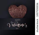 happy valentine's day vector... | Shutterstock .eps vector #1007050036