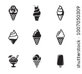 ice cream icons | Shutterstock .eps vector #1007050309