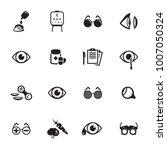 optometry icons set | Shutterstock .eps vector #1007050324