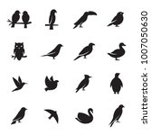 birds icon set | Shutterstock .eps vector #1007050630