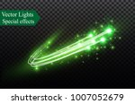 abstract vector glowing magic... | Shutterstock .eps vector #1007052679