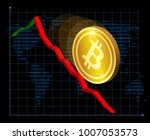fall of bitcoin. cryptocurrency ... | Shutterstock .eps vector #1007053573
