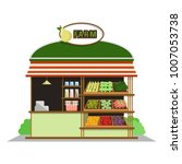farm shop. fruits and... | Shutterstock .eps vector #1007053738