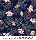 Seamless Floral Jungle Pattern...