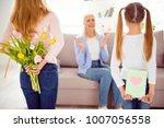 grandparent motherhood... | Shutterstock . vector #1007056558