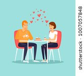 february 14  couple in love.... | Shutterstock .eps vector #1007057848
