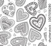 vector boho ornamental hearts... | Shutterstock .eps vector #1007058280