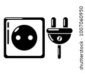 electric outlet icon. simple... | Shutterstock .eps vector #1007060950
