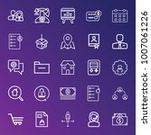 business outline vector icon... | Shutterstock .eps vector #1007061226