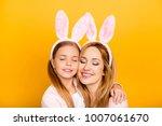 close up portrait of cute sweet ... | Shutterstock . vector #1007061670