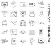 cybernetics icons set. outline... | Shutterstock .eps vector #1007061874