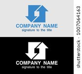 logo template with arrows on... | Shutterstock .eps vector #1007064163