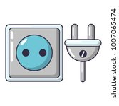 electric outlet icon. cartoon... | Shutterstock .eps vector #1007065474