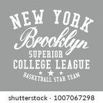 new york brooklyn graphic...   Shutterstock .eps vector #1007067298