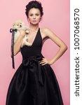 fashion beautiful woman in... | Shutterstock . vector #1007068570