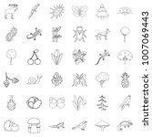 climate icons set. outline... | Shutterstock .eps vector #1007069443