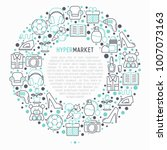hypermarket concept in circle... | Shutterstock .eps vector #1007073163
