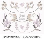 colorful hand drawn floral text ... | Shutterstock .eps vector #1007079898