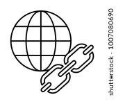 url browser chain  | Shutterstock .eps vector #1007080690